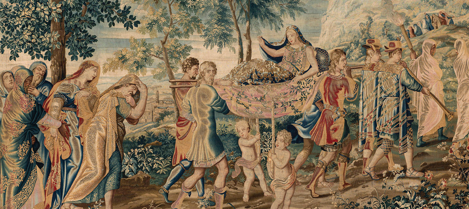 weaving the myth of psyche baroque tapestries from the wadsworth