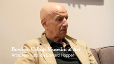 Alex Katz on Edward Hopper video