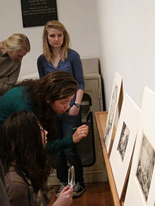 Students from Associate Professor of Art History Susan Wegner's course