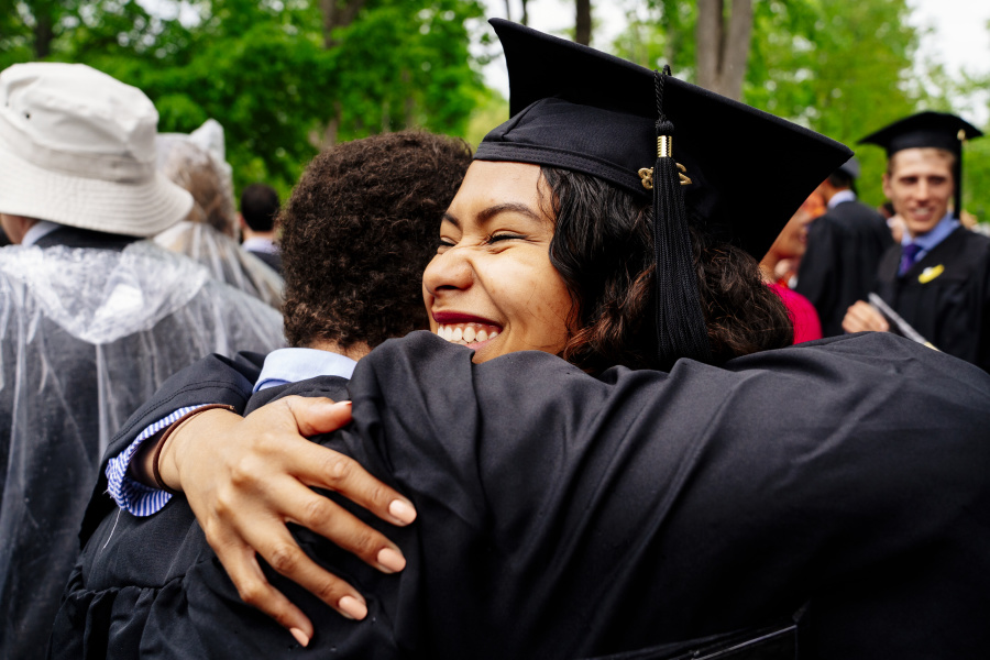Hugs at Commencement