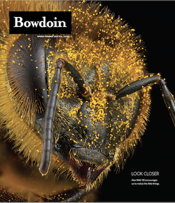 A close look at a bee by Alex Wild '95