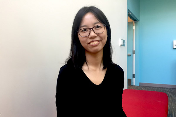 "Yijie ""Carina"" Sun is a summer fellow, doing research on urban rent policies"