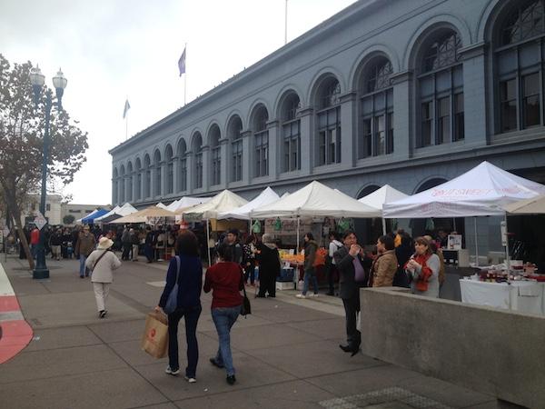 Waterfront farmer's market San Francisco