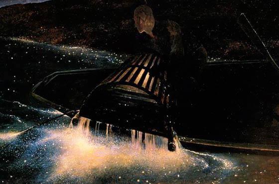"Andrew Wyeth, ""Night Hauling,"" 1944. Tempera on Masonite. Bowdoin College Museum of Art."