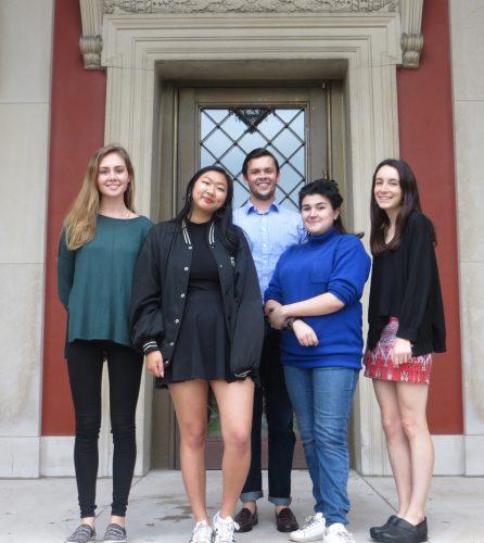 left to right: Emma Hamilton '17, June Lei '18, Will Schweller '17, Blanche Froelich '19, and Elize Gramlich '17.