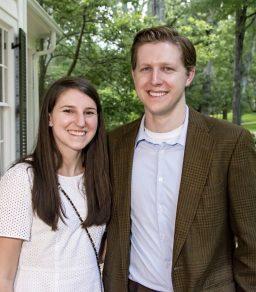 Ben Johnson '11, with fiancée Michaela Calnan '11