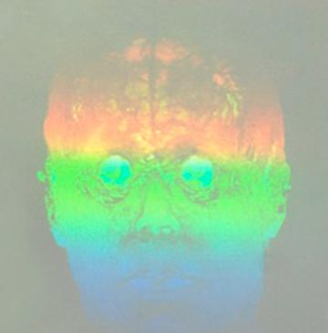 """""""When H2 leaves O,"""" 2015, hologram by Folkert de Jong."""