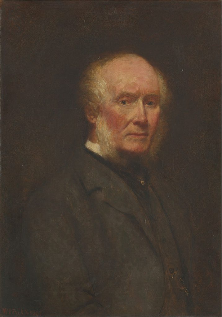 """""""Self Portrait at the Age of 83."""" William Powell Frith, 1901. Oil on canvas."""