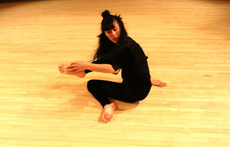 Aretha Aoki performing in 2012. Photo: Alex Escalante
