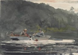 """The End of the Hunt,"" 1892, watercolor over graphite, by Winslow Homer, American, 1836 – 1910. Gift of the Misses Harriet Sarah and Mary Sophia Walker. Bowdoin College Museum of Art."