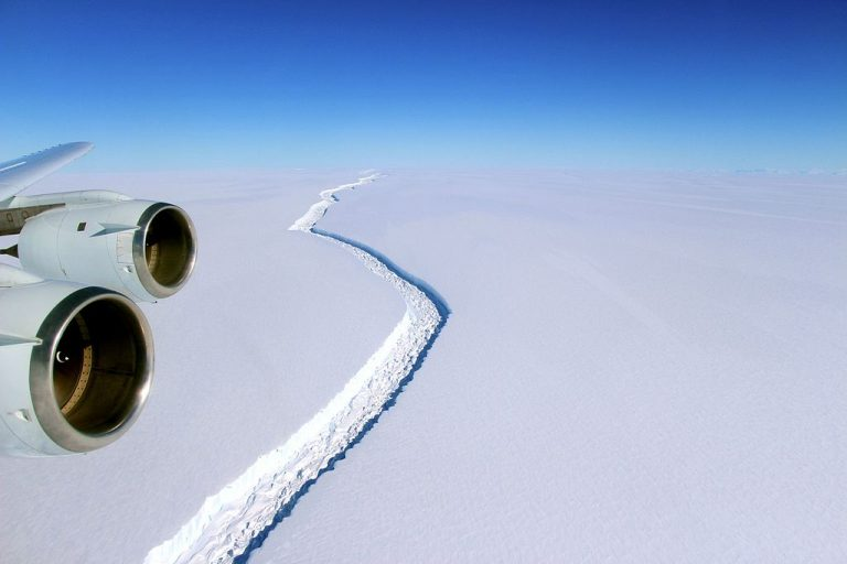 Scientists had been monitoring the crack in the Larsen C ice shelf for several years