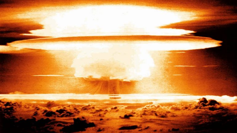 Nuclear bomb test. File image