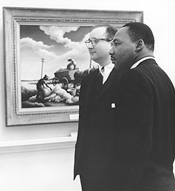 Dr. King visited the Bowdoin College Museum of Art