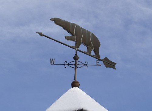 Weather vane polar bear