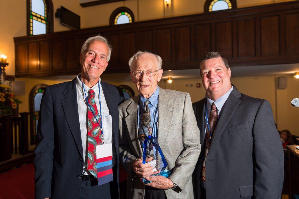 Dr Harold Osher '44, Steve Brinn, and Gary Barron