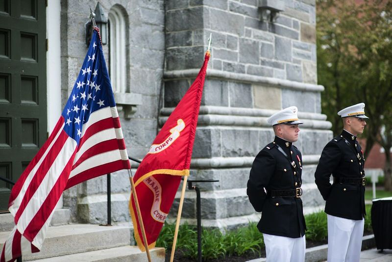 Bowdoin seniors are commissioned into the marine corps