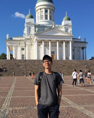 Kevin Yu '19 in Helsinki