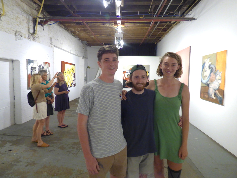 Cody Stack '16, Isaac Jaegerman '16, and Alice Jones '17 in New System Exhibitions