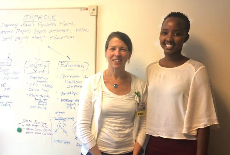 Darlene Ineza '19, with her advisor, Dr. Kathleen Fairfield '89
