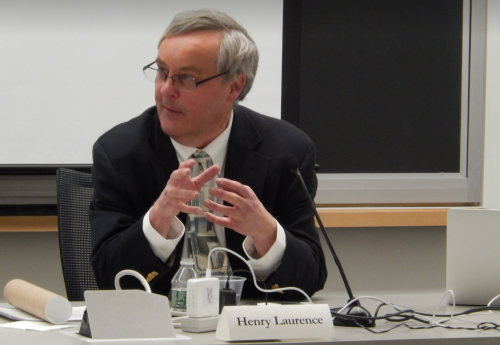 Professor Laurence addresses Harvard's US-Japan Relations Program