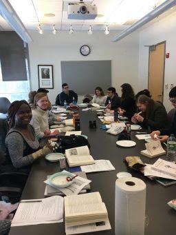 Students in professor Meghan Roberts' spring semester class