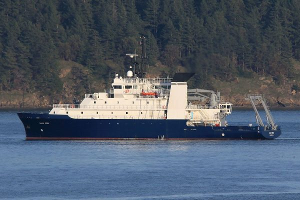 The research vessel, Sally Ride, is one of two EXPORTS research vessels.