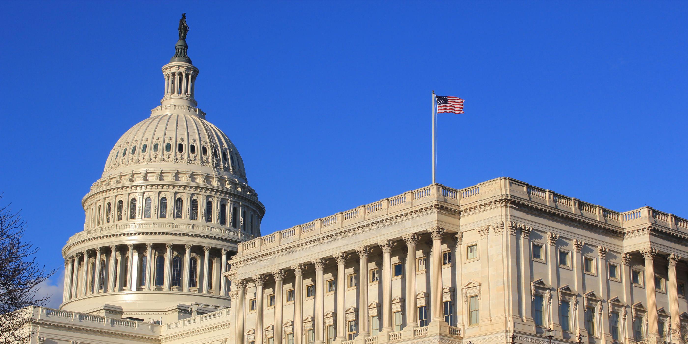 Blue skies over Washington DC