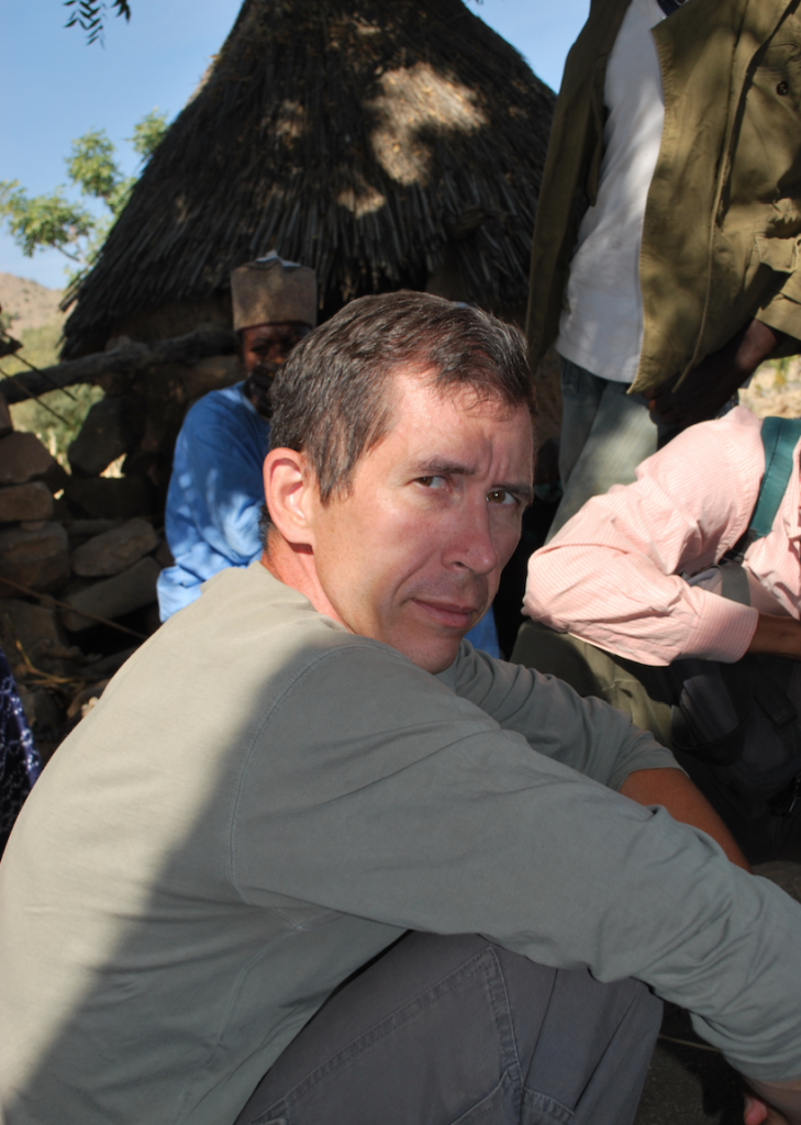 Scott MacEachern in the mountains of Cameroon, near the Nigerian border. January 2011.