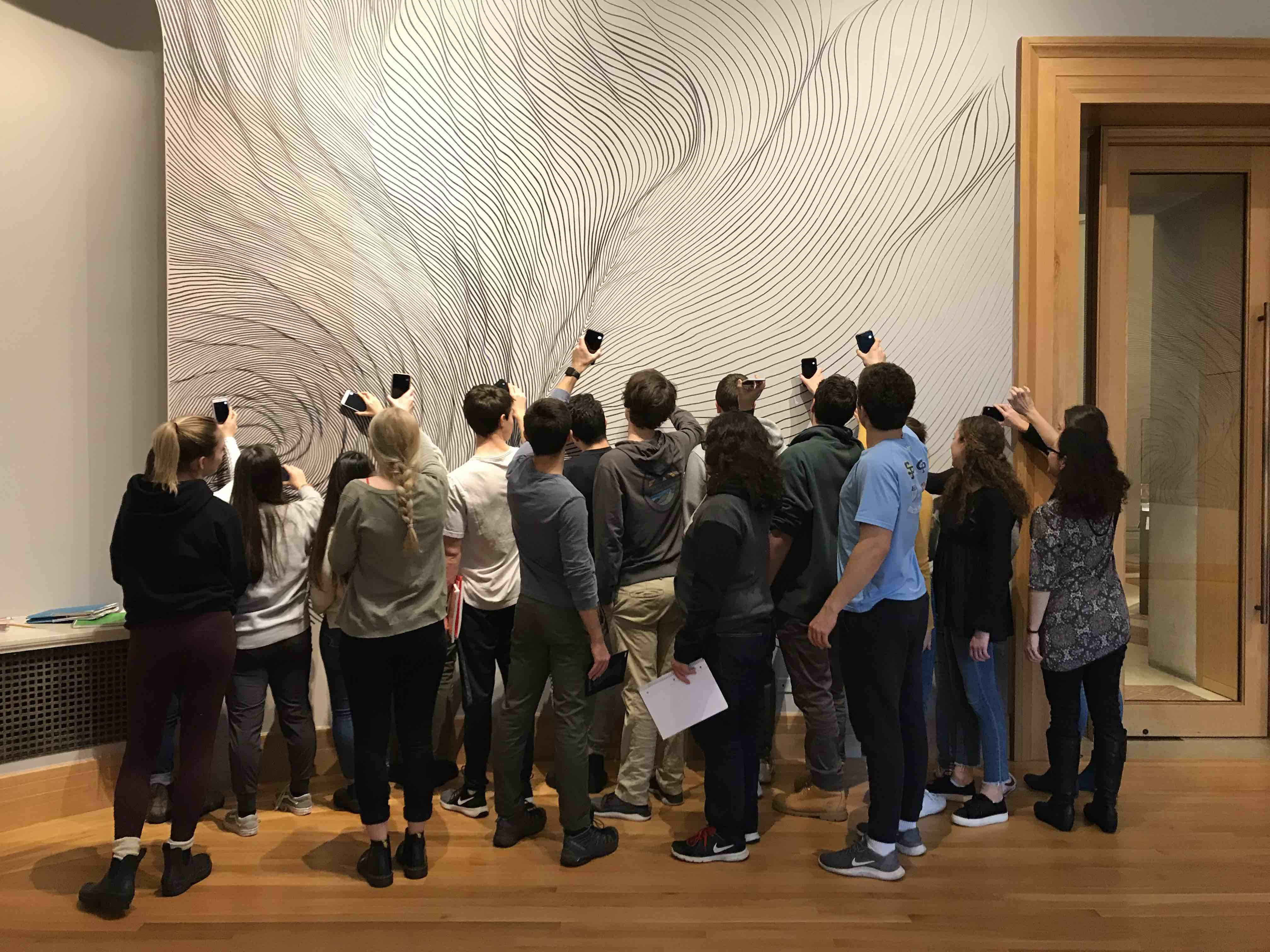Spanish students in the museum
