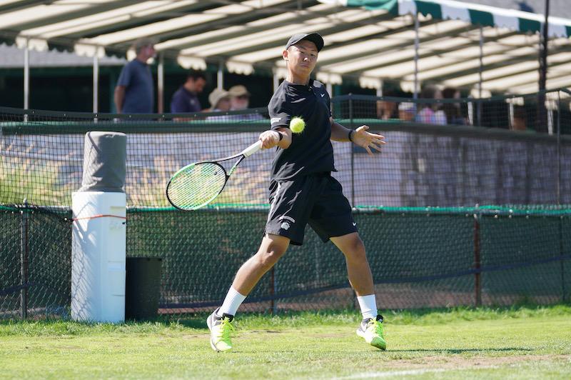 Jerry Jiang playing tennis
