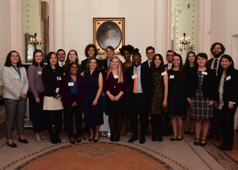 mitchell ireland scholars 2019 - julia maine '16 is 4th from right.. photo: carol clayton