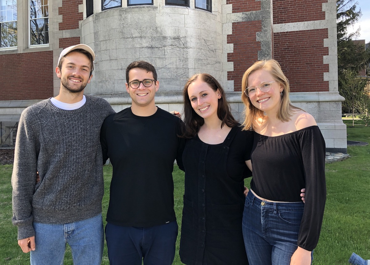 Loop developers Connor Belfield '19, Benny Painter '19, Meghan Parsons '19, and Ripley Mayfield '19
