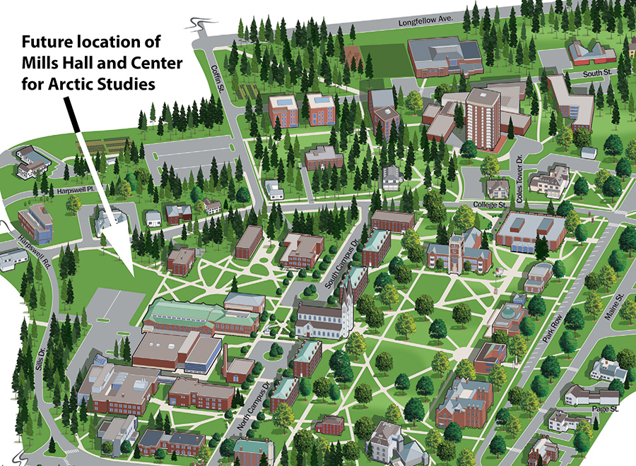 bowdoin college campus map Bowdoin To Build Barry Mills Hall And New Center For Arctic bowdoin college campus map