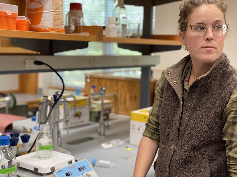 Patty Jones in her lab