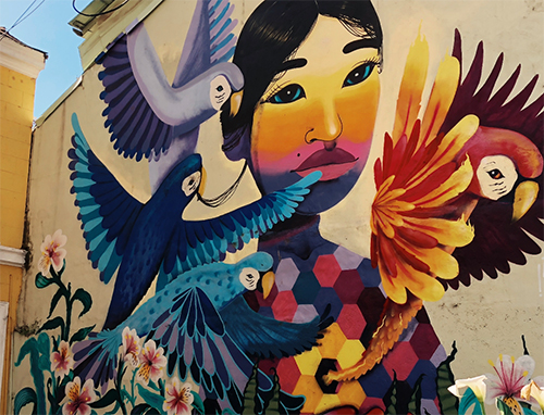 A mural in Chile