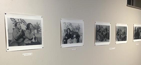 A wall of portraits