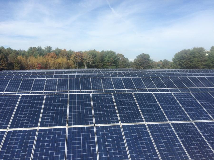 Solar panels at the Navy base.