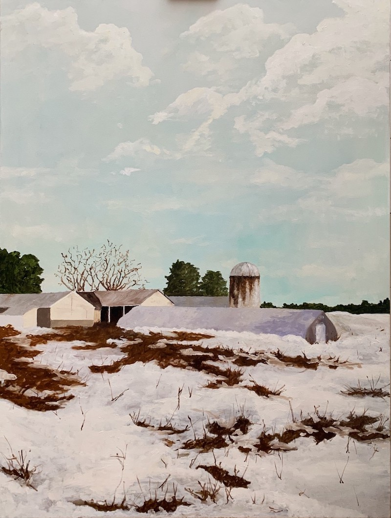 Sam Betts' painting of Crystal Spring Farm