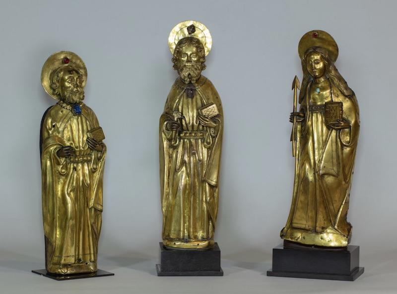Three statuettes