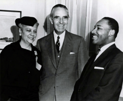 Anna Arnold Hedgeman, Averell Harriman, and Martin Luther King, Jr., 1960s.