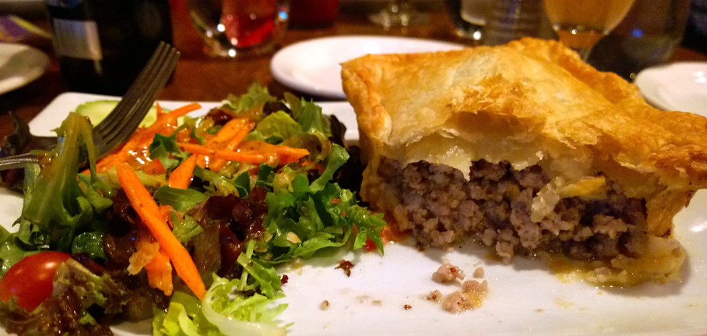 Tourtiere at Les Voyageurs courtesy of Ruth Hartnup on Flickr