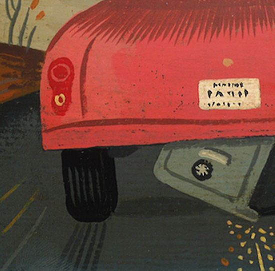 Illustration of a car dragging a safe underneath.
