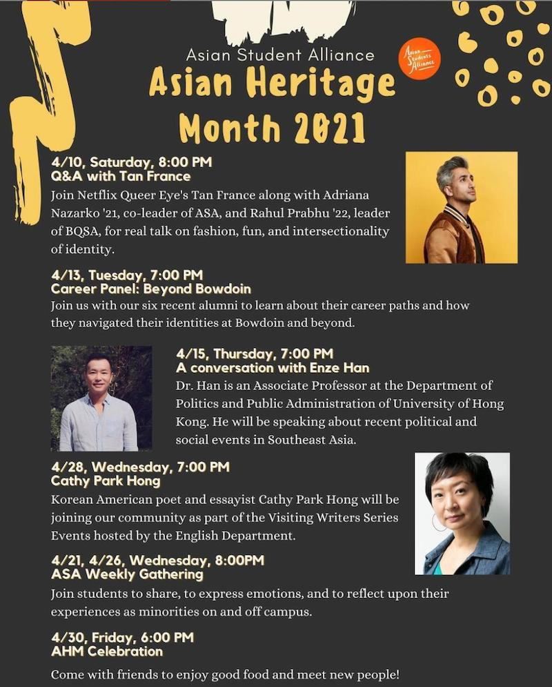 Asian Heritage Month speakers