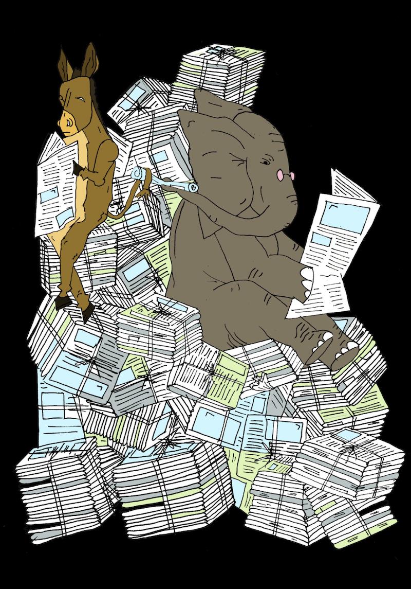 Media trades cartoon