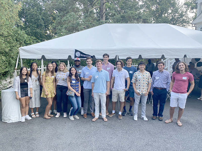 Send-off event in New Jersey, hosted byPeter and Marsha Wolfson P'22 with Owen Wolfson '22