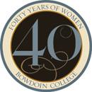 40 Years of Women at Bowdoin Logo