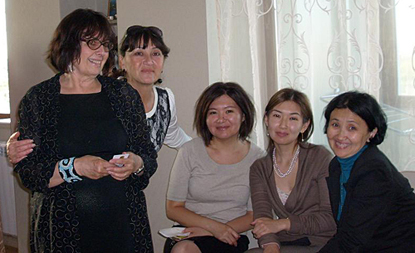 With my Kazakh embassy colleagues in Astana, Kazakhstan