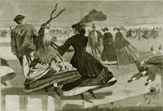 Winslow Homer Our National Winter Exercise - Skating